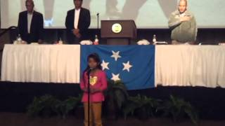 FSM. National Anthem Song by: La'Kesia Aisek William, a proud Island girl@TX.