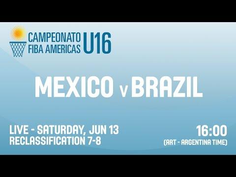 Mexico v Brazil - Reclassification 7-8 - 2015 FIBA Americas U16 Championship