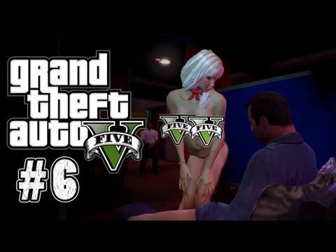 Grand Theft Auto V Walkthrough Part 6 - (Strip club Super Censored!!)