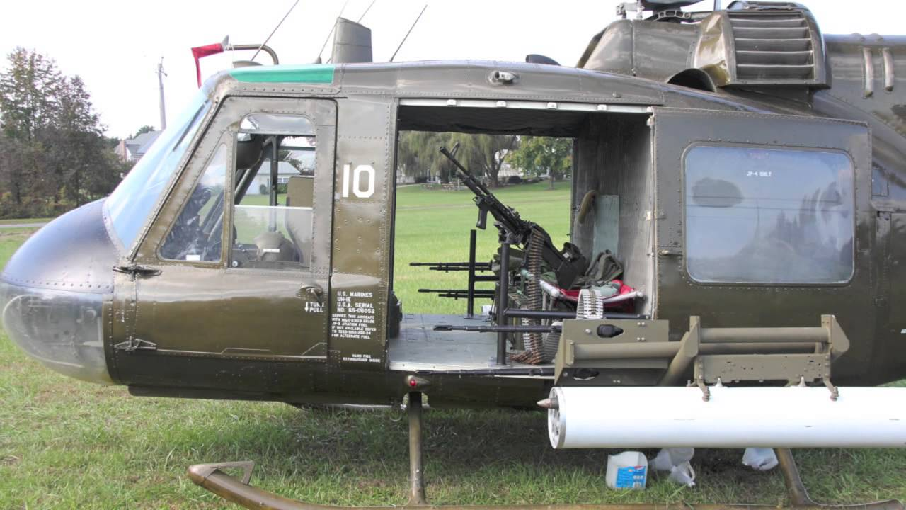 Huey Helicopter For Sale >> HUEY HELICOPTER GUNSHIP UH-1E RUN-UP 2 - YouTube