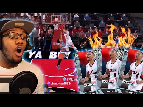 DIAMOND 98 OVR DAMIAN LILLARD DROPS 60 IN DEBUT!! MOST OVERPOWERED PG IN 2K!! NBA 2K16 MyTEAM