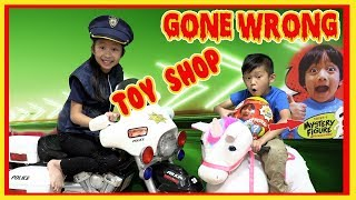 Pretend Play POLICE with Ryan's Toy Review Toys ( Toy Shop Gone Wrong )
