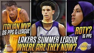 Where Are LONZO BALL'S Lakers Summer League Teammates Now IN 2018?