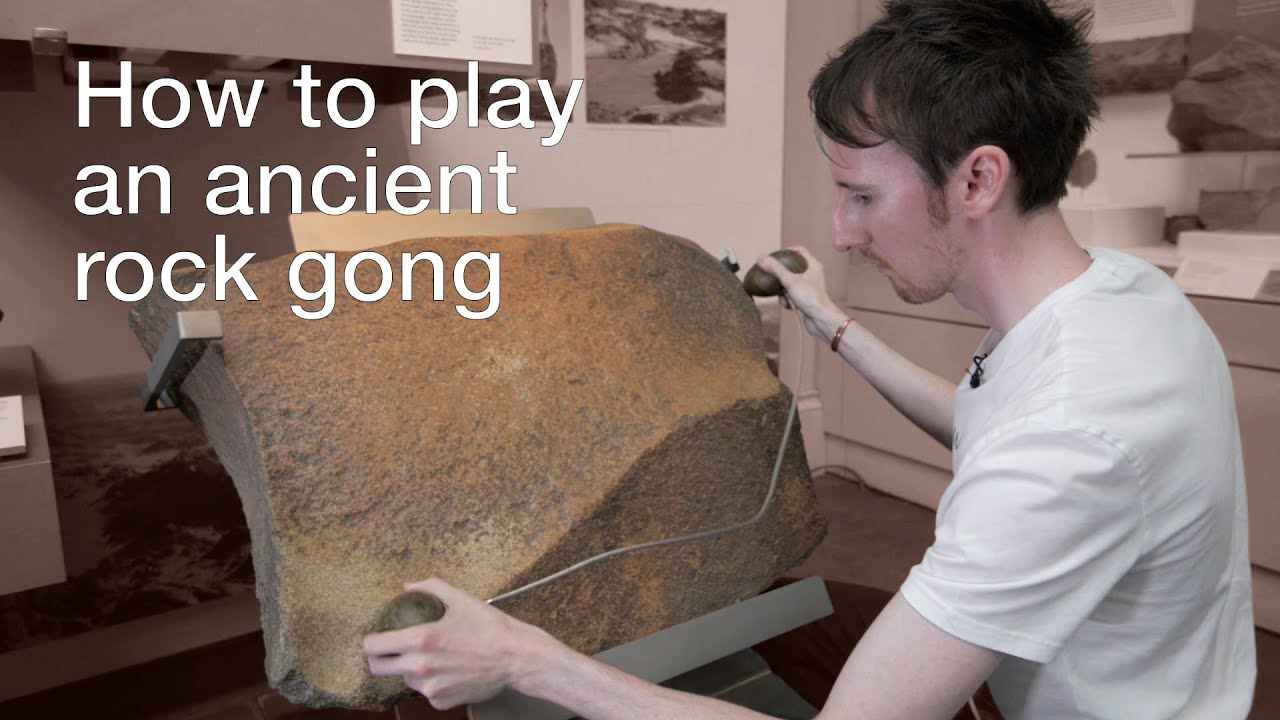 Jamming Out On A 2000 Year Old Stone Gong