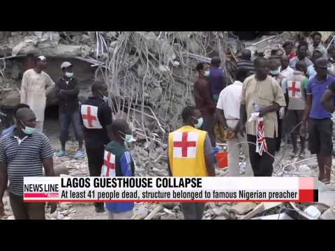 More than 40 dead in Nigeria church guesthouse collapse   나이지리아 대형교회 부속건물 붕괴 41명