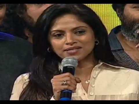 Mirchi Nadhiya Speech | Attarintiki Daredi Audio Launch HD | Pawan Kalyan, Trivikram Srinivas, DSP