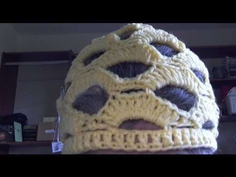 Lion Brand Yarn Openwork Crochet Hat- Part One