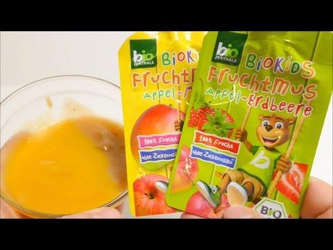 BioKids Fruit Puree Apple Strawberry Dessert