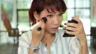 ការផាត់មុខធម្មតាប្រចាំថ្ងែរបស់ខ្ញុំ(Everyday Makeup one look for 3outfits )