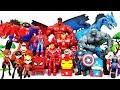 Avengers & Incredbles Go~! Defeat The Villains! Hulk, Iron Man, Spider Man, Captain America