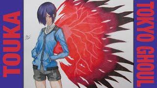 Drawing Time Lapse- Touka Kirishima (Tokyo Ghoul) ????-????????- view on break.com tube online.