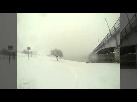 Washington DC Snowstorm timelapse in Anacostia Park