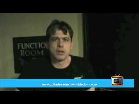 GregX TV- Grant talking about his performance at Wimbledon School of Guitar Acoustic Gig