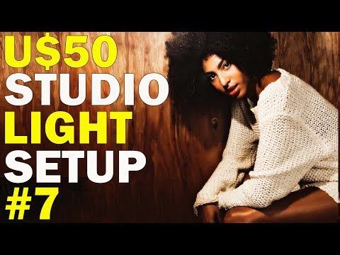 U$50 cheap studio lighting setup - how to shoot a fashion editorial - #7 - どのようにファッション誌を撮影するか