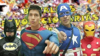 Batman & Superman VS Capitán América & Iron Man l Batallas Revolucionarias Rap l Especial