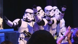 "Stormtroopers sing ""Let It Go"" from Frozen plus other songs at Star Wars Weekends 2014"