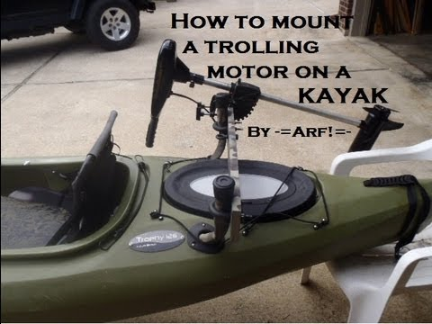Mount a trolling motor on a KAYAK - Cheap