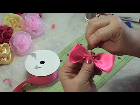 Make Hair Bow, Ribbon bow, Bow Tie, Tutorial #1, DIY