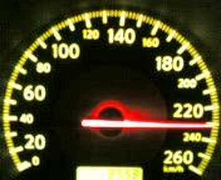 nissan ALTIMA 05 V6 from 0 to 246 km/h in 41sec