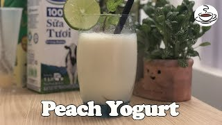 Peach Yogurt Easy To Make At Home |The Coffee House
