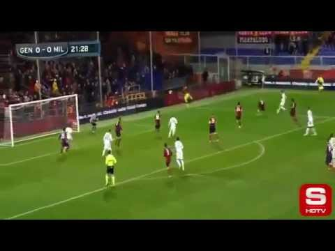 Genoa vs A.C.Milan 0-2 All Goals, Pazzini&Balotelli