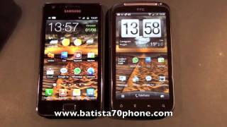 HTC Sensation vs Samsung Galaxy S2 Video by batista70phone