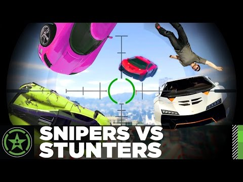 Let's Play - GTA V - Snipers VS Stunters 2