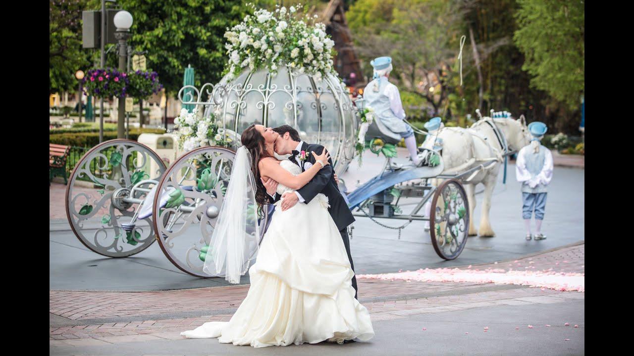 Sydni Amp Johnnys Disneyland Morning Castle Wedding HD