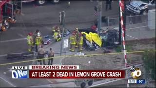 At least two dead in Lemon Grove crash