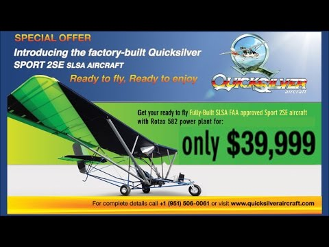 Quicksilver Aircraft Sport IISE light sport aircraft now available ready to build or fly!