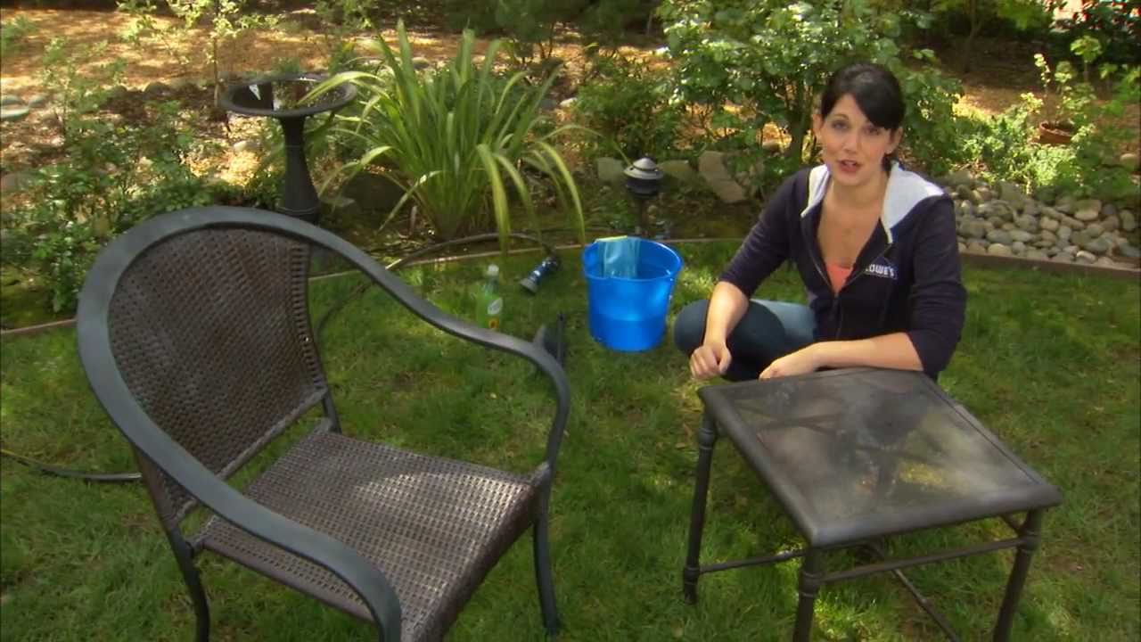 How to clean patio furniture decks grills and outdoor for Outdoor furniture cleaner
