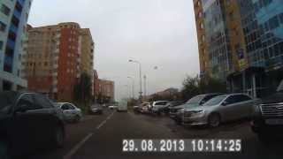Driving in Astana Summer 2013