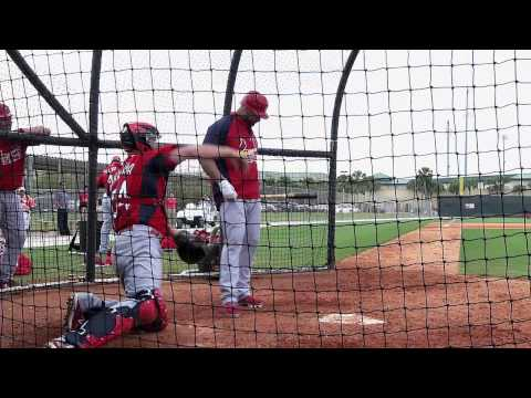 Albert Pujols and Yadier Molina Batting Practice - Spring Training 2011