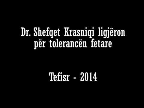 Toleranca Islame - Dr. Shefqet Krasniqi