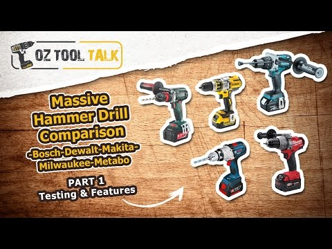 Makita. Milwaukee. Dewalt. Bosch & Metabo - Part 1: 18V Brushless Hammer Drill Comparison