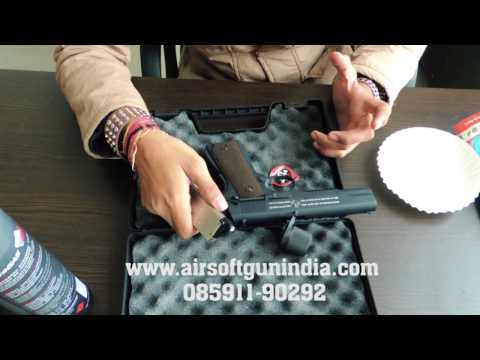 Bell 1911 gas blow back airsoft pistol  by airsoft gun india