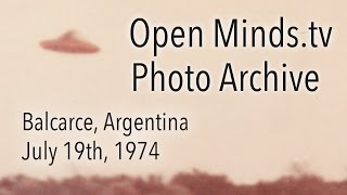 UFO Photographs - Balcarce, Argentina - OpenMinds.tv UFO Photo Archive