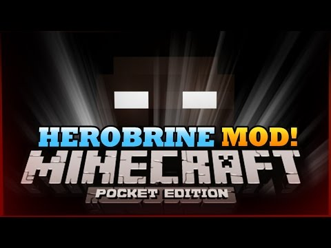 Minecraft Pocket Edition | HEROBRINE MOD! - MCPE 0.9.5 Mod Showcase