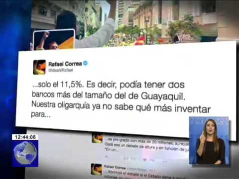 Presidente Correa criticó a Guillermo Lasso vía Twitter