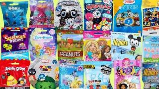 Blind Bags Toy Surprises Opening TROLLS PEANUTS BARBIE  CHARM U Disney Care Bears MLP