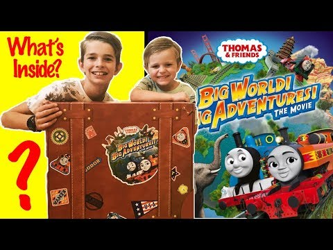 THOMAS BIG WORLD BIG ADVENTURES MYSTERY MOVIE BOX SET! WHAT'S INSIDE??? SURPRISE UNBOXING!