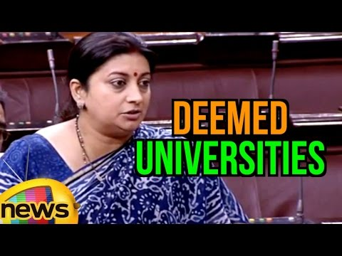 Smriti Irani Vs Anand Sharma In Rajya Sabha Over Deemed Universities | Mango News