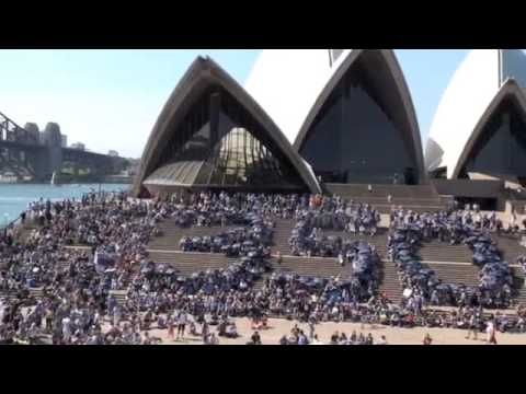 350org event Opera House Sydney, Australia