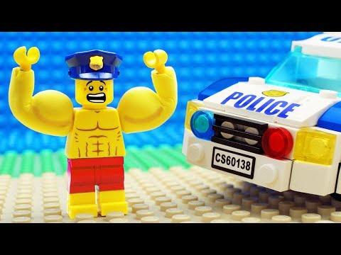 Lego Bulldozer Gym Police Fail