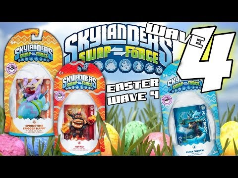Skylanders Swap Force Wave 4 Update + Surprise ☺ Springtime Trigger Happy, Fryno, Punk Shock ಠEaster