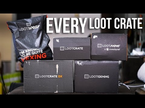 EVERY Loot Crate Compared | Mega Unboxing + Review (except Pets)