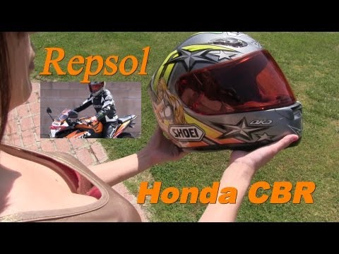 Honda CBR Repsol Moto GP with M4 Carbon Exhaust - Let it be Orange!