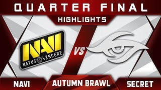 NaVi vs Secret+Dendi [EPIC] Maincast Autumn Brawl 2018 Highlights Dota 2