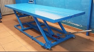 Motorcycle lift table homemade_video #2