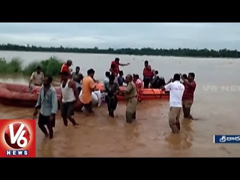 NDRF Rescues 55 People Trapped In Flood Water In Srikakulam District | V6 News